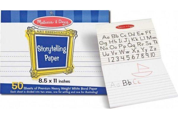 abeceda MELISSA AND DOUG Blok s pomožnimi črtami za pisanje črk, Melissa and Doug 14103