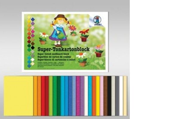 ustvarjalni material URSUS Blok polkartona, 220 g, 24 x 34 cm, 25 listni, Ursus B6670099