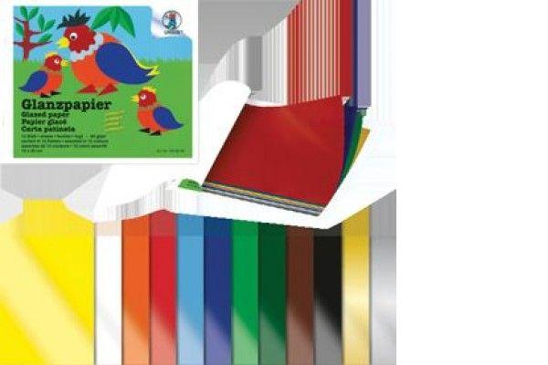 ustvarjalni material URSUS Lepljivi papir, blok, 20x30 cm, 12 listov, Ursus B1920099