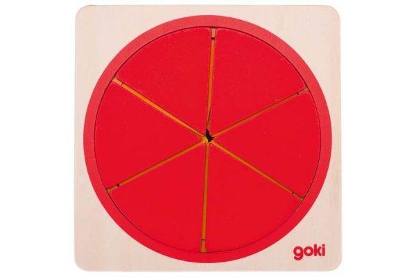 matematika GOKI Sestavljanka deli kroga, Goki 57737