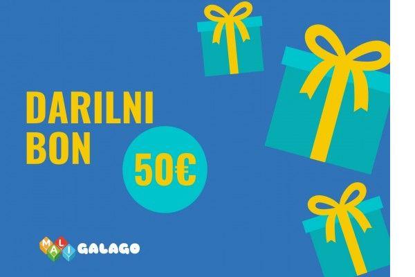 MALI GALAGO Darilni bon Mali Galago, Vrednost 10 EUR
