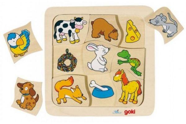 SESTAVLJANKE GOKI Sestavljanka Kaj jedo živali, Goki 56880