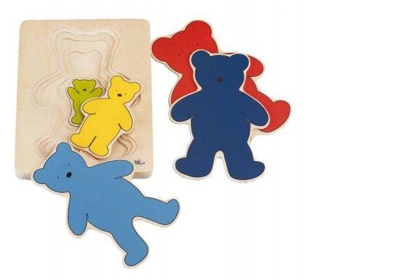 SESTAVLJANKE GOKI Večplastne puzzle medvedki, goki 57884