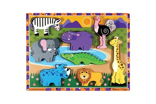 sestavljanke s čepki MELISSA AND DOUG Sestavljanka safari, Melissa and Doug 13722