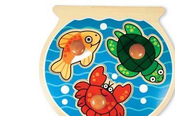 sestavljanke s čepki MELISSA AND DOUG Sestavljanka s čepki, morske živali, Melissa and Doug 12056