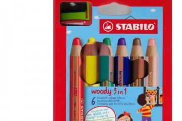 barve in barvice STABILO 3 v 1 Barvice, voščenke, vodenke, Stabilo 19716