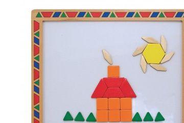 geometrija MELISSA AND DOUG Komplet lesenih magnetov geometrijski liki, Melissa and Doug 13590