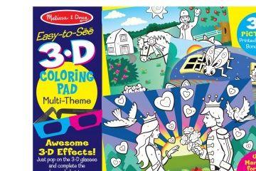 pobarvanke MELISSA AND DOUG 3D pobarvanka princeske, Melissa and Doug 19963