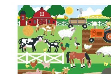 ustvarjalni seti MELISSA AND DOUG NALEPKE ZA VEČKRATNO UPORABO, Bivališča živali, Melissa and Doug 14196