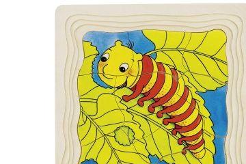 poučne GOKI Večplastna sestavljanka metulj, Goki 57523