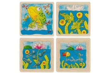 SESTAVLJANKE GOKI Večplastna sestavljanka žaba, Goki 57524