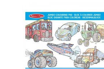 pobarvanke MELISSA AND DOUG Pobarvanka, vozila, Melissa and Doug 14205