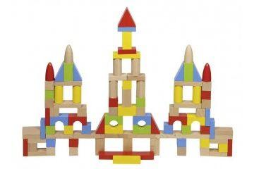KOCKE GOKI Barvne lesene kocke, Goki 58576