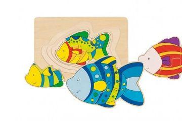 večplastne sestavljanke GOKI Sestavljanka riba, Goki 57897
