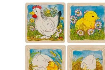 večplastne sestavljanke GOKI Večplastna sestavljanka kokoš, Goki 57521