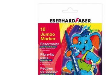 barve in barvice  EBERHARD FABER Jumbo debeli flomastri, Eberhard Faber, 55 12 10