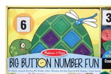 matematika MELISSA AND DOUG Štejem z gumbi, Melissa and Doug 14319