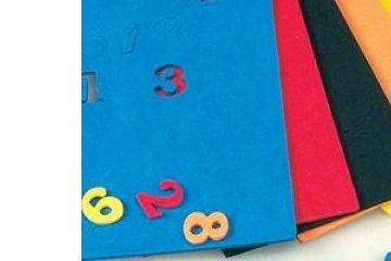 ustvarjalni material EFCO Komplet števil iz moosgumme, Efco H10 555 35