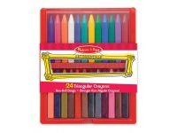 barve in barvice MELISSA AND DOUG Trikotne voščenke, 24, Melissa and Doug 14136