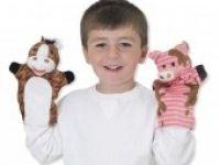 MEHKE IGRAČE ZA NAJMLAJŠE MELISSA AND DOUG Ročne lutke, domače živali, Melissa and Doug 19080