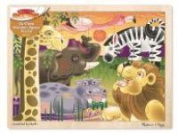 druge sestavljanke MELISSA AND DOUG Lesena sestavljanka Afriške živali, Melissa in Doug, 12937