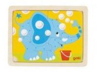 večplastne sestavljanke GOKI Sestavljanka slon, Goki, 57487