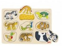 sestavljanke s čepki GOKI Sestavljanka s čepki, živali, skrite slike, Goki, 57585