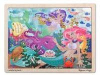 sestavljanke MELISSA AND DOUG Lesena sestavljanka, morske deklice, 24 kos, Melissa and Doug 12911