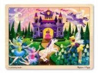 sestavljanke MELISSA AND DOUG Lesena sestavljanka, princeskin grad, 48 kos, Melissa in Doug 13804