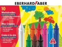 barve in barvice  EBERHARD FABER Trikotne voščenke, 10 barv, Eberhard Faber 2310 M10