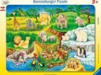 druge sestavljanke RAVENSBURGER Vstavljanka divje živali, 14 kos, Ravensburger 01-060528
