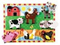 sestavljanke s čepki MELISSA AND DOUG Sestavljanka domače živali, Melissa and Doug 13723