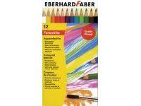 barve in barvice  EBERHARD FABER Akvarelne barvice 12, Eberhard Faber 51 60 12