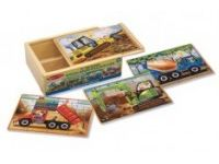 MELISSA AND DOUG Komplet 4 sestavljank, gradbišče, Melissa and Doug 13792